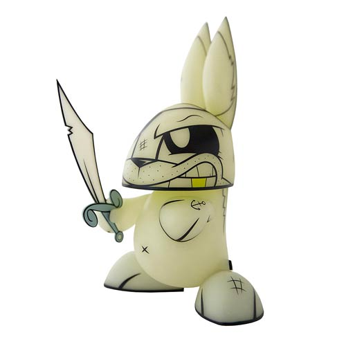 Glow-in-the-Dark Ghost Pirate Chaos Bunny Vinyl Figure