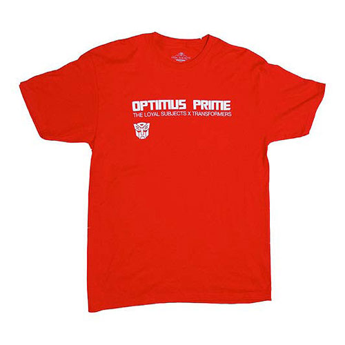 Transformers Optimus Prime Logo Red T-Shirt