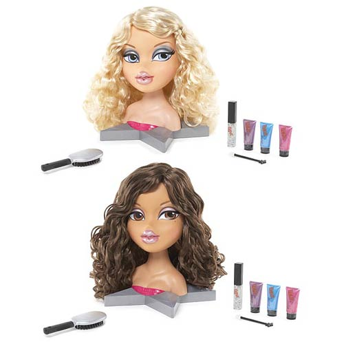 Bratz All Glammed Up Funky Fashion Makeover Doll Head Set
