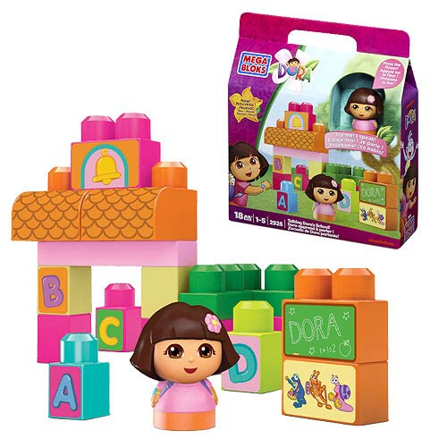 Mega Bloks Dora the Explorer Dora's Talking School Playset