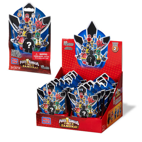 Mega Bloks Power Rangers MF Micro Figures Series 2 6-Pack