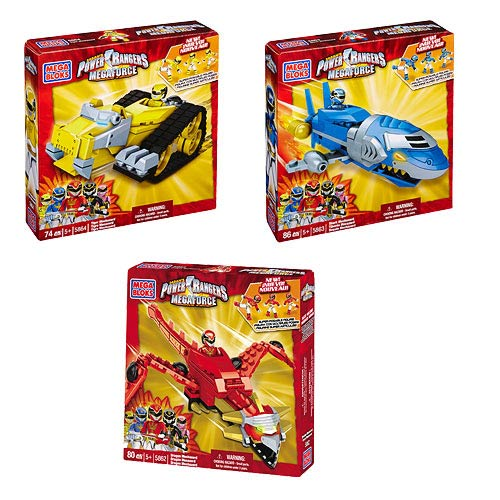 Mega Bloks Power Rangers Megaforce Zords Series 1 Case