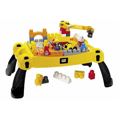 Mega Bloks Caterpillar Construction Site Table Playset