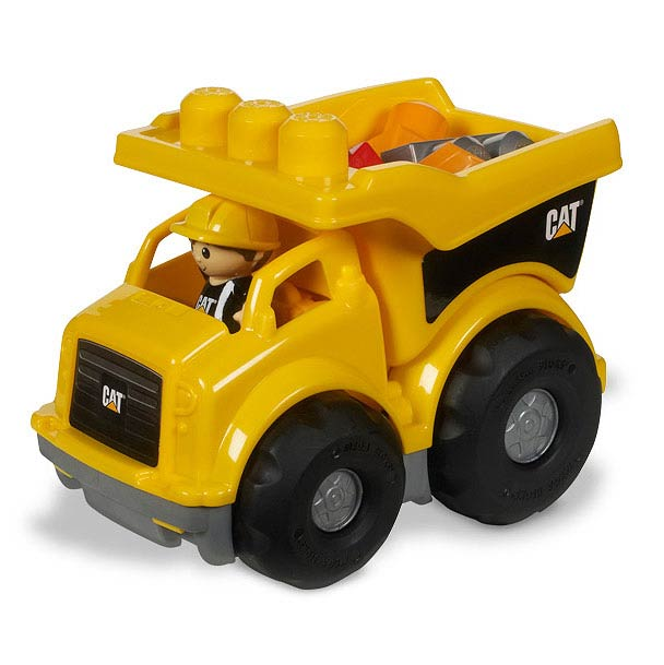 Mega Bloks Caterpillar Lil Dump Truck Vehicle