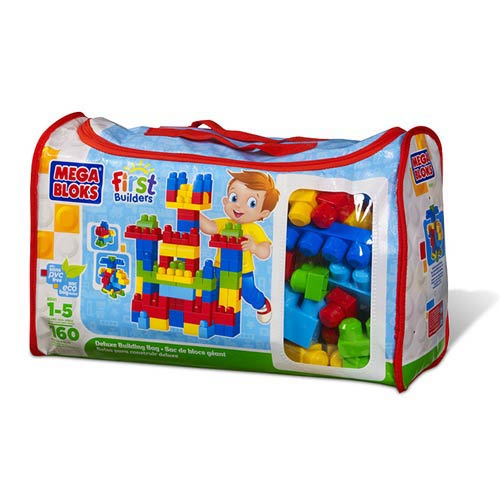 Mega Bloks Deluxe Building Bag First Builders Mega Bloks Set