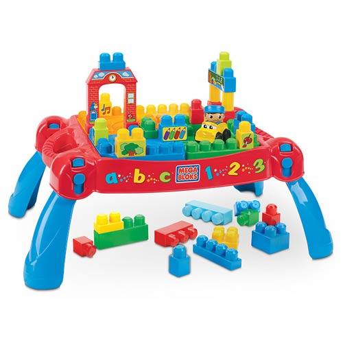 Mega Bloks Build N Learn First Builders Table Playset