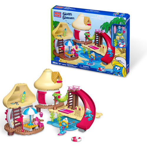 Mega Bloks Smurfs Beach Building Playset