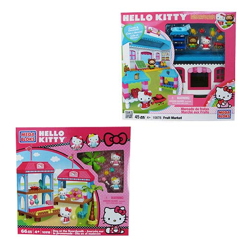 Mega Bloks Hello Kitty Medium Playset Assortment Set