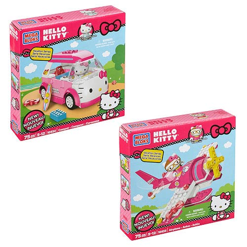 Mega Bloks Hello Kitty Small Playset Assortment Case