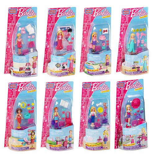 Mega Bloks Barbie and Friends Mini-Playset Case