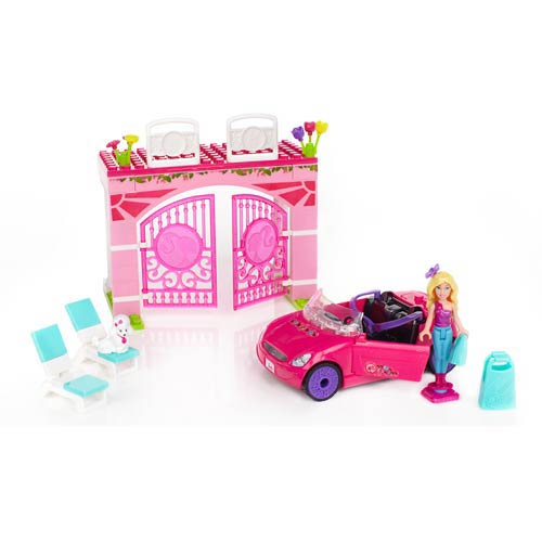 Mega Bloks Barbie Build N Style Convertible Vehicle Playset