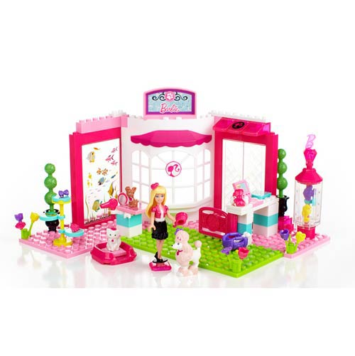 Mega Bloks Barbie Build N Style Pet Shop Playset