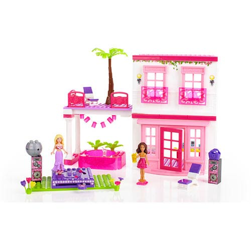 Mega Bloks Barbie Build N Style Beach House Playset