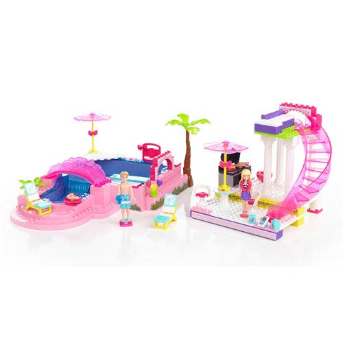 Mega Bloks Barbie Build N Style Pool Party Playset