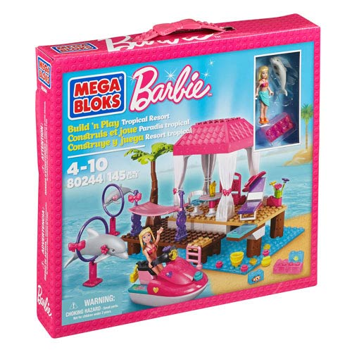 Mega Bloks Barbie Build N Style Dolphin Adventure Playset