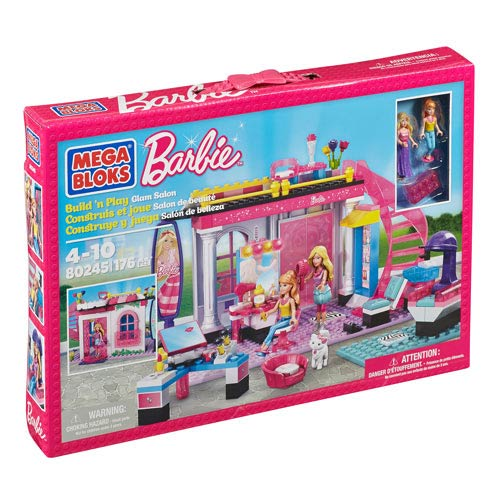 Mega Bloks Barbie Build N Style Glam Salon Playset