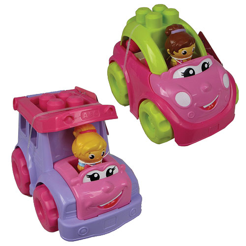 Mega Bloks Lil Vehicles First Builders Pink Vehicle Case