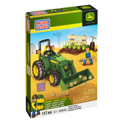 Mega Bloks John Deere Farm Tractor Vehicle Construction Set