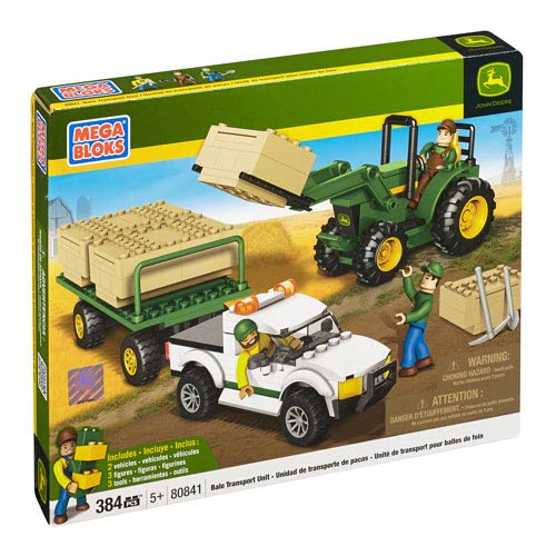 Mega Bloks John Deere Bale Transport Unit Construction Set