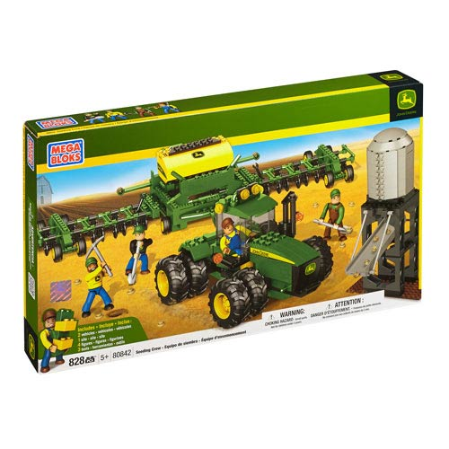 Mega Bloks John Deere Seeding Crew Vehicle Construction Set
