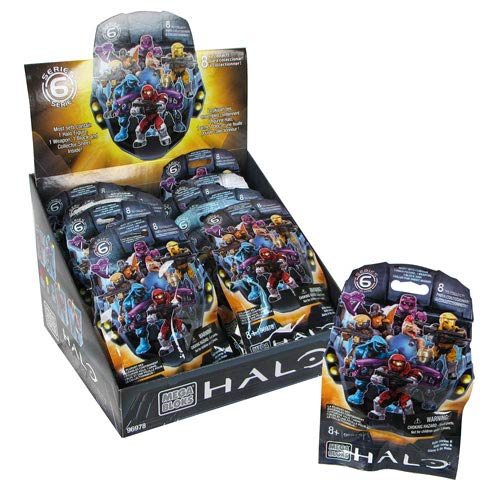 Mega Bloks Halo Micro Figures Series 6 Double Display Box