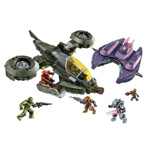 Mega Bloks Halo Light-Up Talking Hornet vs. Covenant Vampire