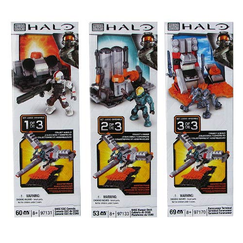 Mega Bloks Halo Build & Combine Booster Packs Ser. 1 Set