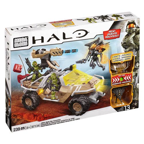 Mega Bloks Halo Light-Up Talking UNSC Night Ops Gausshog