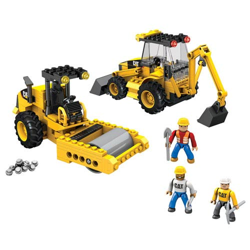 Cat Construction Toys For Boys With Drill : Mega bloks caterpillar road building unit vehicle set
