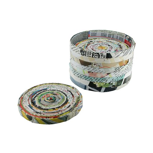 Recycled Paper Coasters 6-Pack