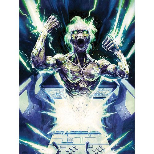 Iron Maiden Speed of Light by Santi Casas Art Print