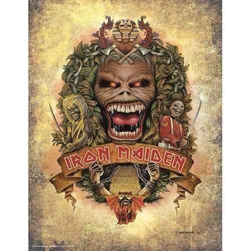 Iron Maiden Eddie's Crest by Dave Nestler Art Print