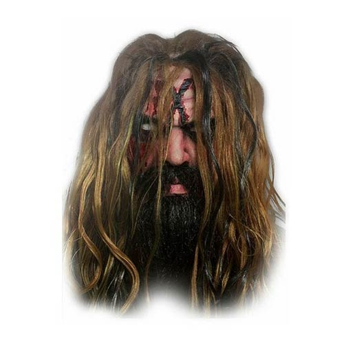 Rob Zombie Overhead Latex Mask with Hair