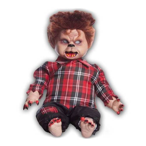 Animated Baby Wolfboy Talking 20-Inch Halloween Decoration