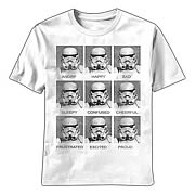 Star Wars Stormtrooper Expressions White T-Shirt