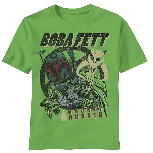 Star Wars Boba Fett Fetted Green T-Shirt