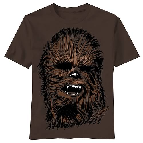 Star Wars Chewbacca Chewie Face Brown T-Shirt