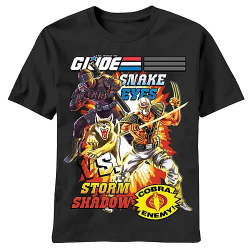 G.I. Joe Snake Eyes vs. Storm Shadow T-Shirt