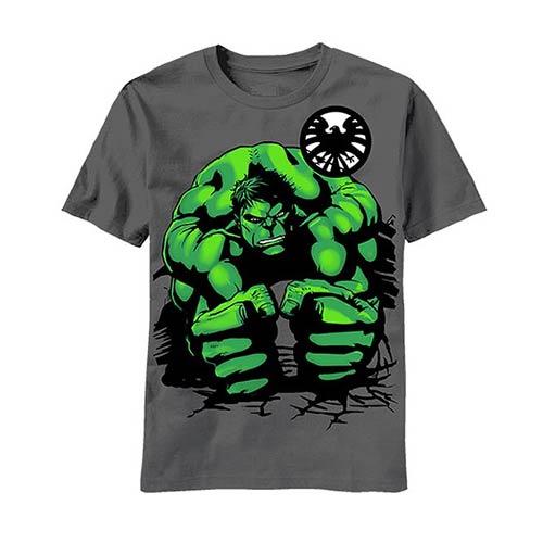 Hulk Squat Gray Youth T-Shirt