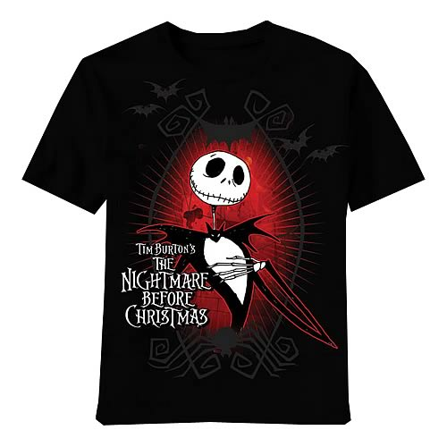 Nightmare Before Christmas Jack Dark Love Black T-Shirt