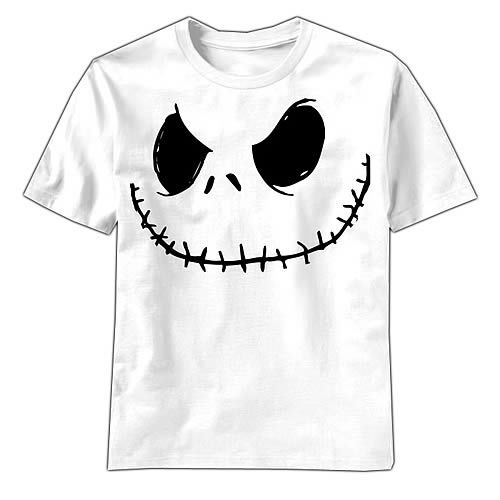 Nightmare Before Christmas Smilin Jack White T-Shirt - Mad Engine ...