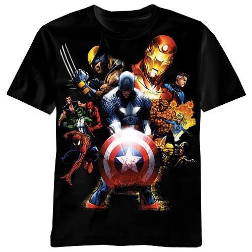 Marvel Soldiers Revenge Black T-Shirt