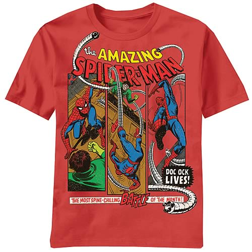 Spider-Man Ock Lives Red T-Shirt