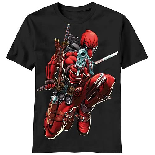 Deadpool Brace Yourself Black T-Shirt