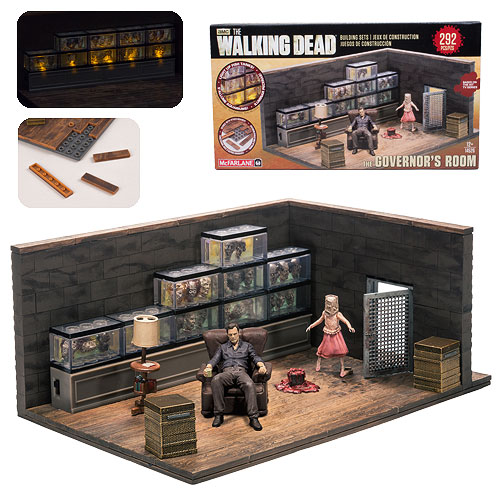 The Walking Dead Governor's Room Mini-Figure Building Set