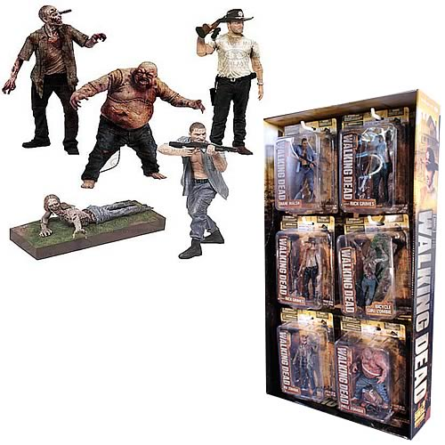 The Walking Dead TV Series 2 Figure with Sidekick Display