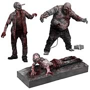Walking Dead TV Bloody Black-and-White Zombie Figures 3-Pack
