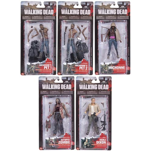 The Walking Dead TV Series 3 Action Figure Set