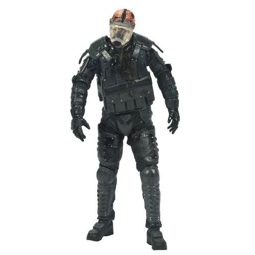 Walking Dead TV Series 4 Riot Gear Gas Mask Zombie Figure
