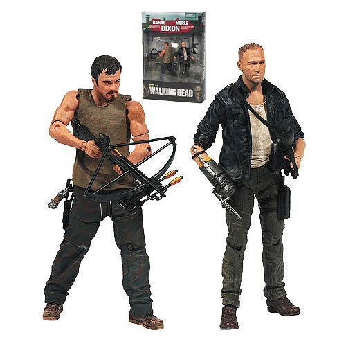 Walking Dead TV Merle and Daryl Dixon Action Figure 2-Pack